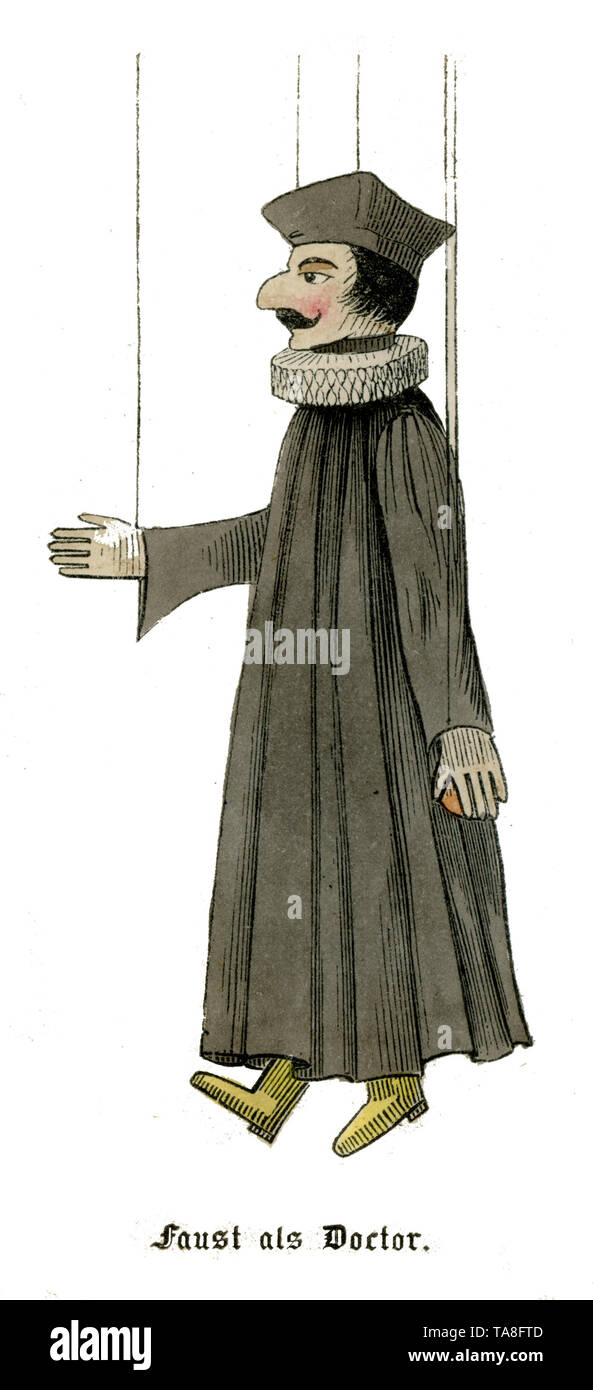 Marionette Faust as Doctor; ,  (, ) - Stock Image