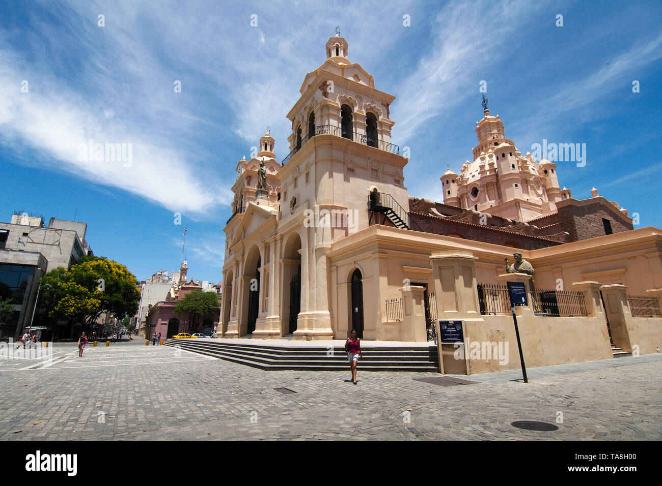 Cordoba City, Cordoba, Argentina - 2019: The Cathedral of Córdoba (Our Lady of the Assumption) is the oldest church in continuous service in Argentina. - Stock Image
