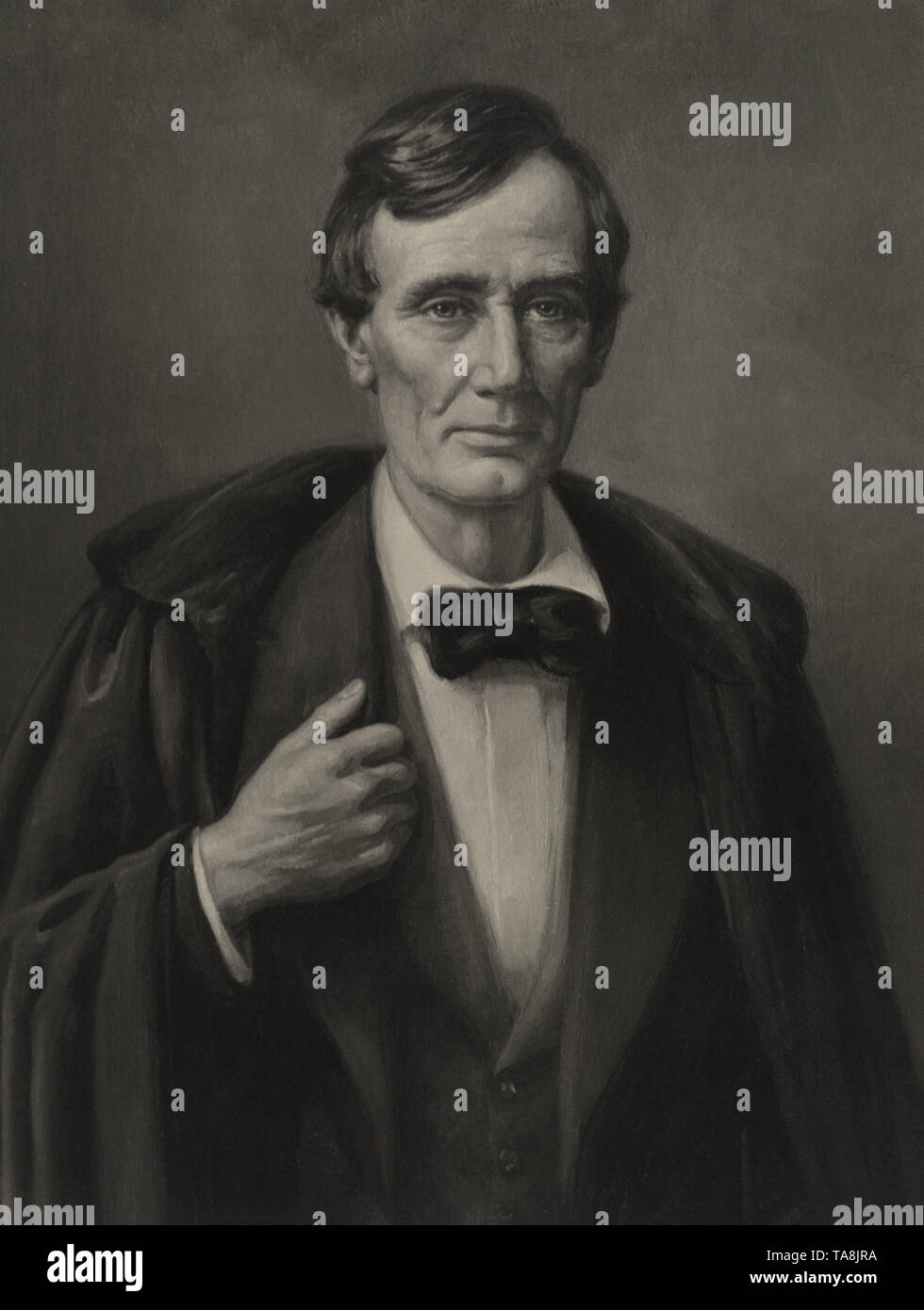 Abraham Lincoln, Reproduction of a 1932 Oil Painting by Charles Sneed Williams - Stock Image