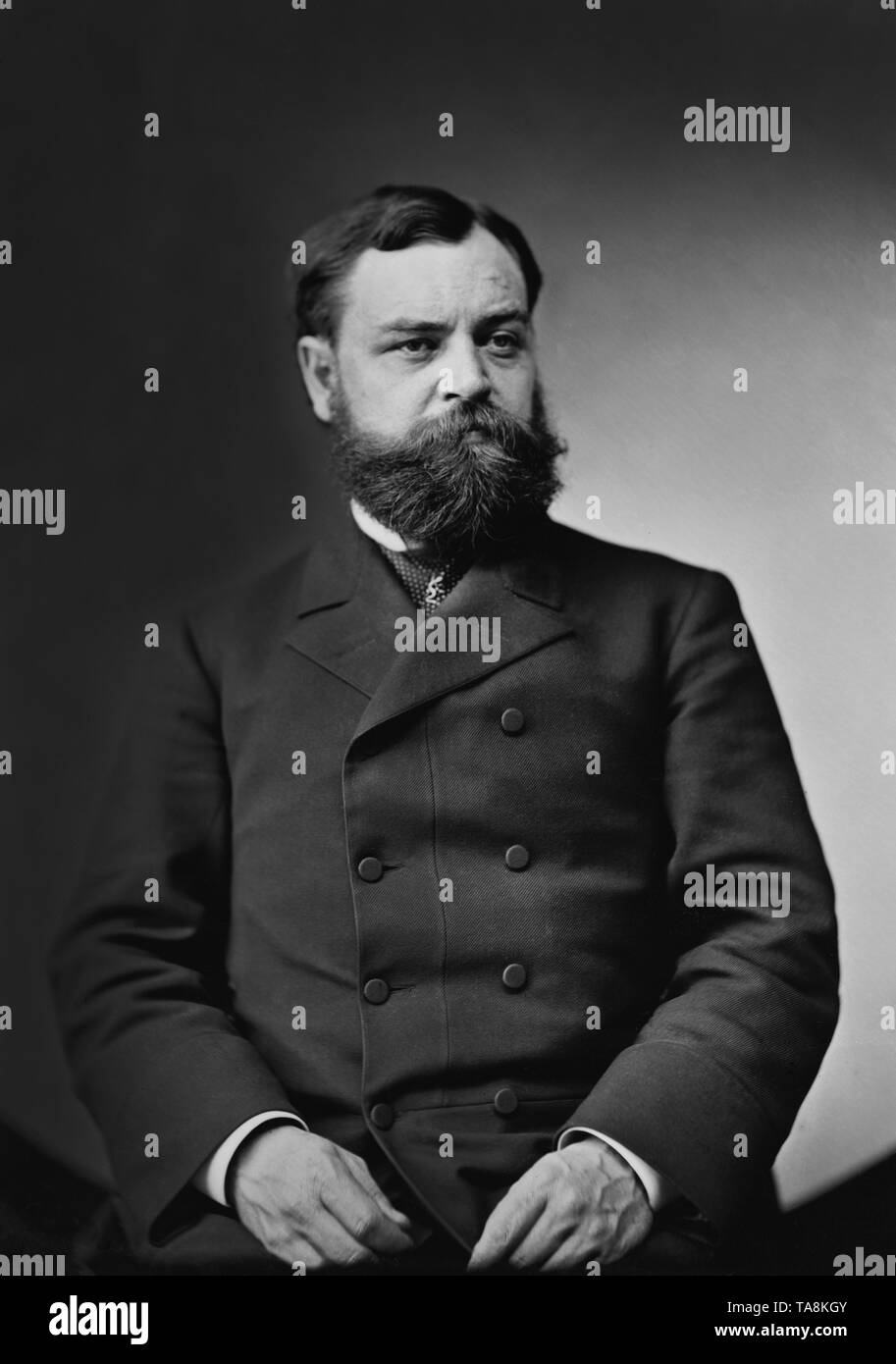 Robert Lincoln, Son of Abraham Lincoln, Half-Length Seated Portrait, 1870's - Stock Image