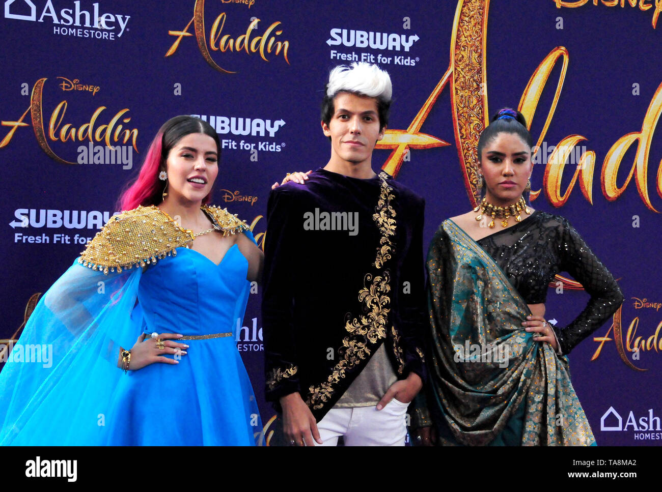 Hollywood, California, USA 21st May 2019  Los Polinesios attends the Disney Premiere of 'Aladdin' on May 21, 2019 at El Capitan Theatre in Hollywood, California, USA. Photo by Barry King/Alamy Stock Photo - Stock Image