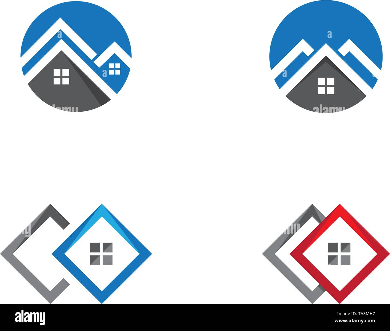 Real Estate , Property and Construction Logo design - Stock Image