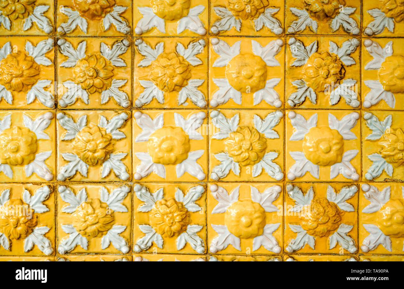 Exterior: Portuguese Glazed Tiles Stock Photos & Portuguese Glazed