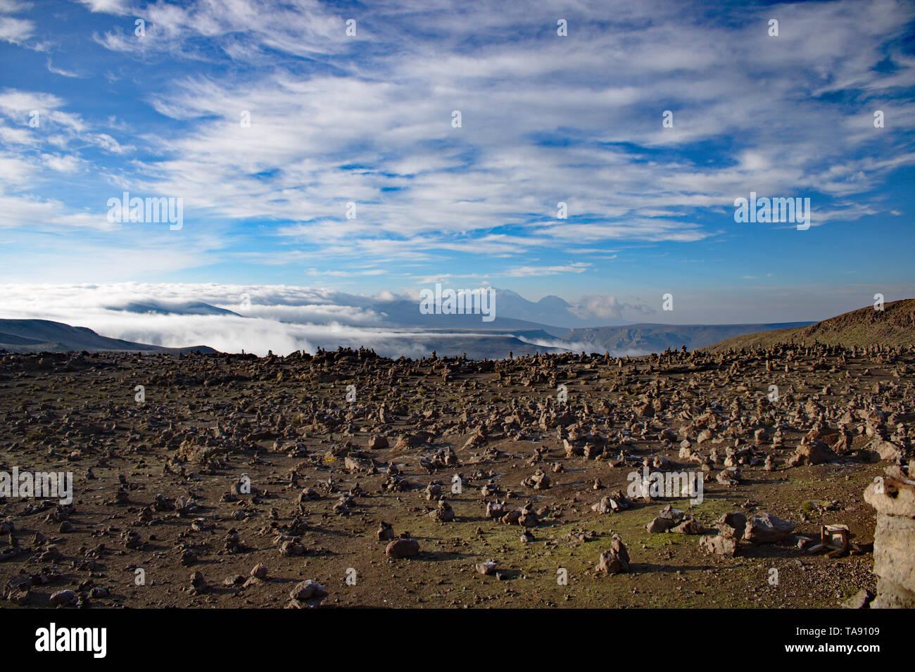 Viewpoint at Colca Canyon, Peru - Stock Image