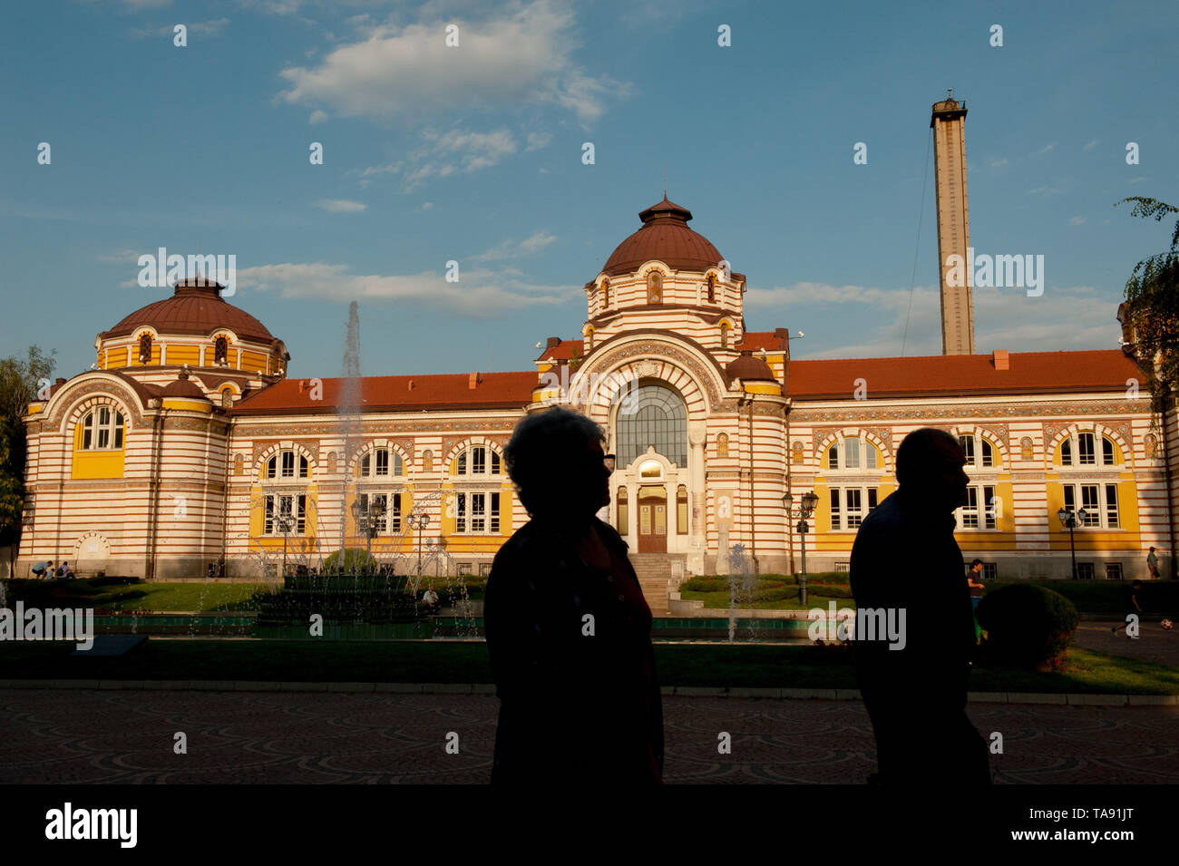 The regional history museum, Sofia, Bulgaria. Bulgaria with an ageing population is the fastest shrinking country in Europe. - Stock Image