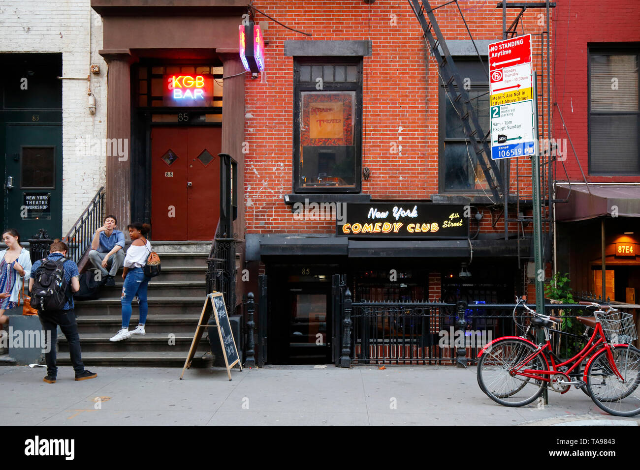 The Red Room, KGB Bar, New York Comedy Club, 85 E 4th St, New York, NY - Stock Image