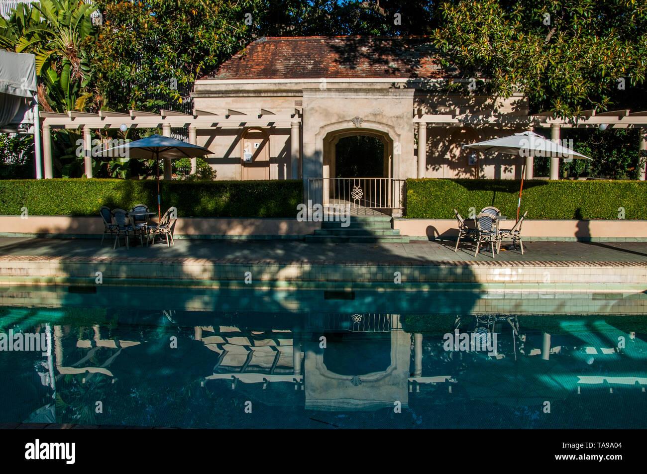 1930s Swimming pool replaced Frederick Sargood's original ballroom at Rippon Lea Estate, Elsternwick, Melbourne, Victoria, Australia - Stock Image