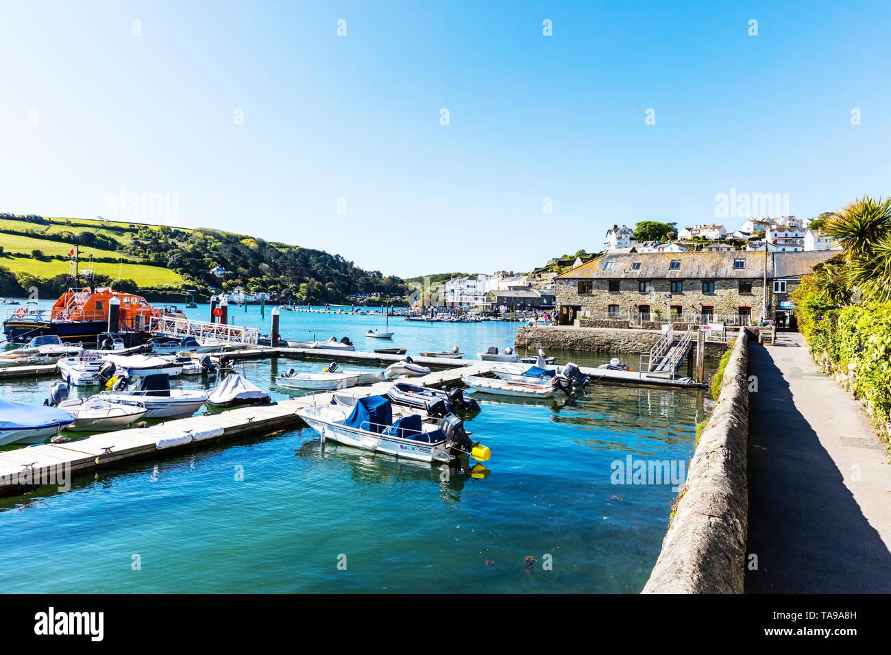 Salcombe Harbour, Salcombe Devon, UK, Salcombe harbour Devon, Salcombe harbor, Salcombe Town Devon, town, towns, harbour, harbours, Devon, Salcombe, - Stock Image