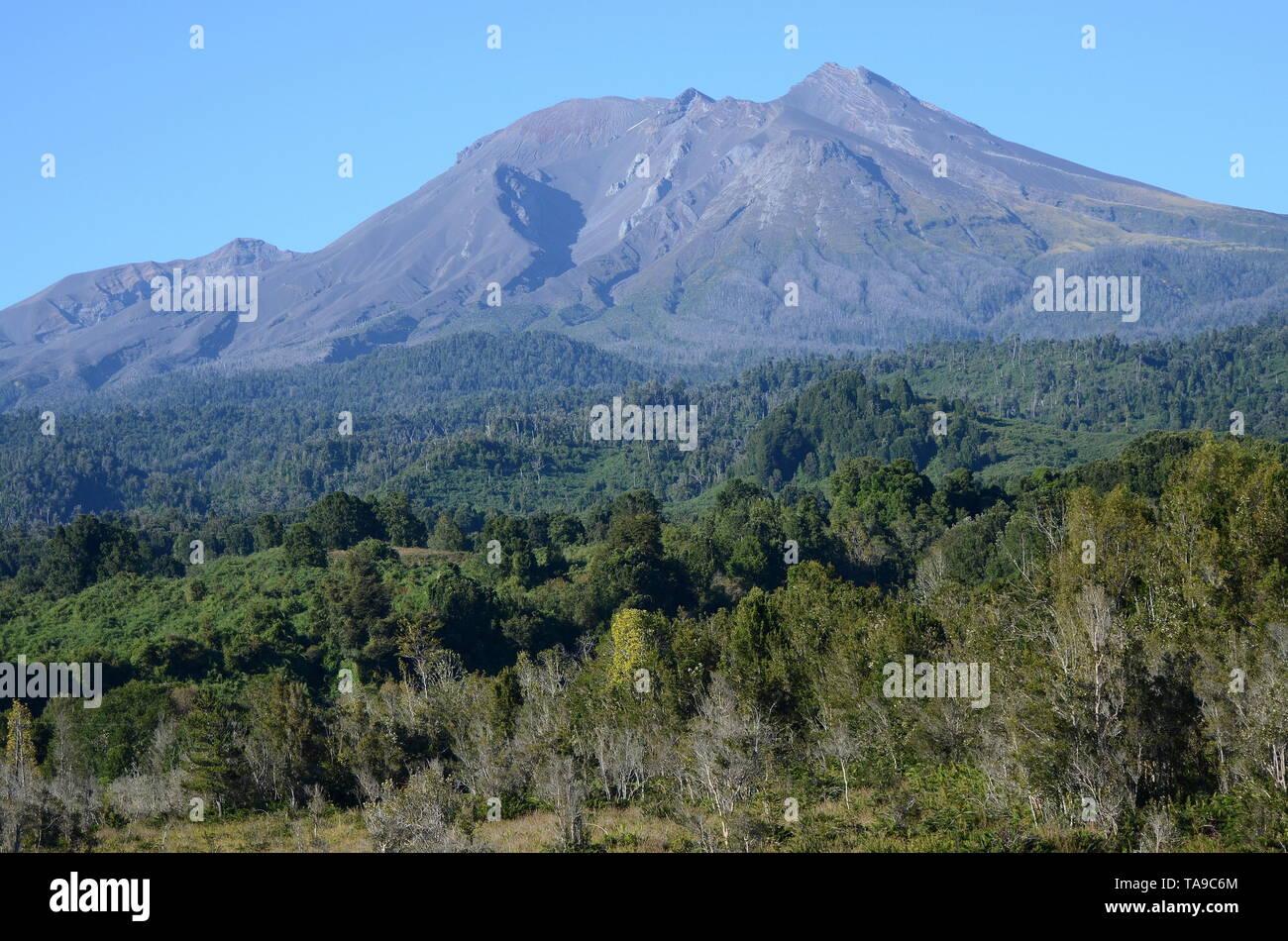 CALBUCO VOLCANO IN CHILE. - Stock Image