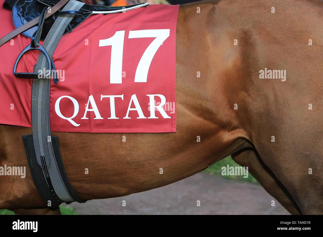 Qatar - Price Arc de Triomphe. - Stock Image