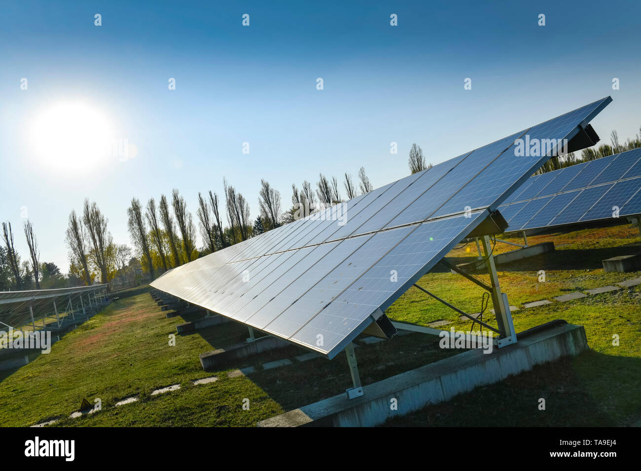 Photovoltaikanlage of the GASAG, Marien's park, Lankwitzer street, Marien's village, temple court nice mountain, Berlin, Germany, Photovoltaikanlage d - Stock Image