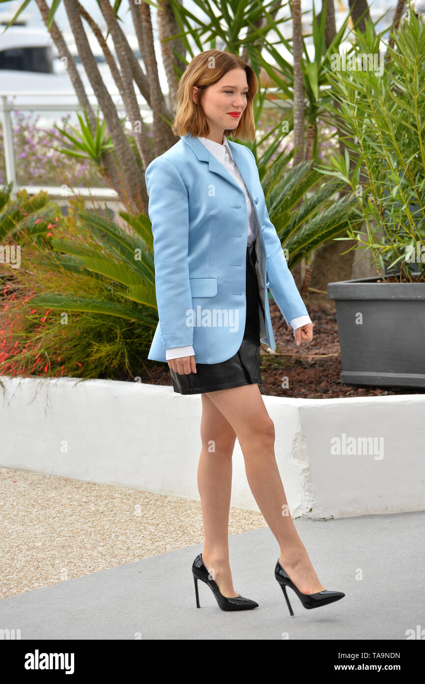 Cannes, France. 23rd May, 2019. CANNES, FRANCE. May 23, 2019: Lea Seydoux at the photocall for 'Oh Mercy!' at the 72nd Festival de Cannes. Picture Credit: Paul Smith/Alamy Live News - Stock Image
