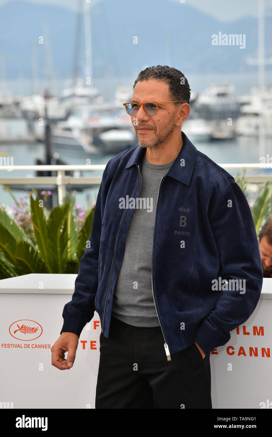 Cannes, France. 23rd May, 2019. CANNES, FRANCE. May 23, 2019: Roschdy Zem at the photocall for 'Oh Mercy!' at the 72nd Festival de Cannes. Picture Credit: Paul Smith/Alamy Live News - Stock Image