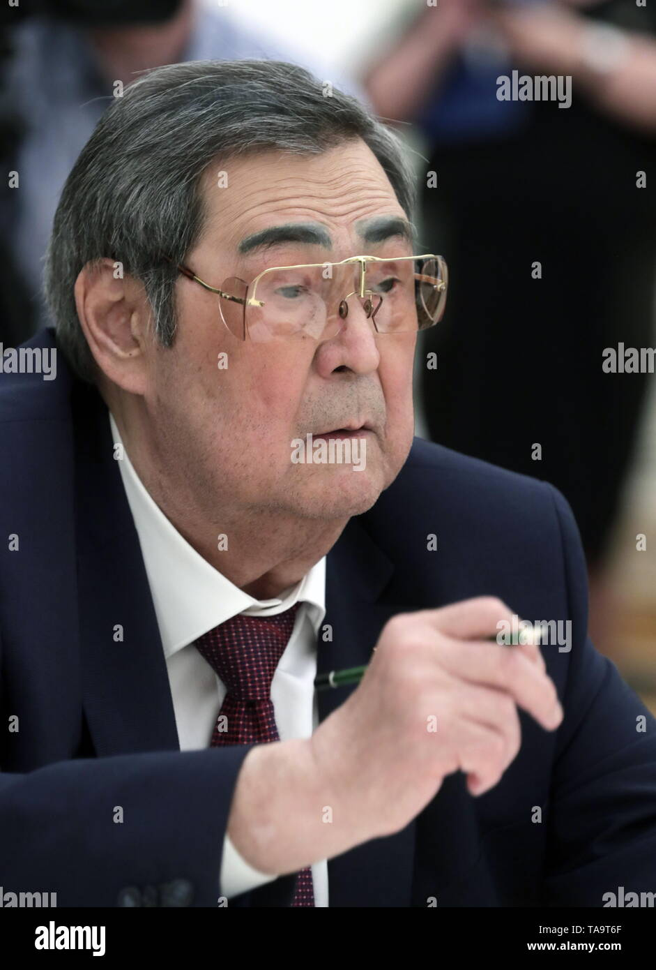 Moscow, Russia. 23rd May, 2019. MOSCOW, RUSSIA - MAY 23, 2019: Former Kemerovo Region Governor Aman Tuleyev during a meeting of Russia's President Vladimir Putin with former heads of Russian regions, at the Moscow Kremlin. Mikhail Metzel/TASS Credit: ITAR-TASS News Agency/Alamy Live News - Stock Image