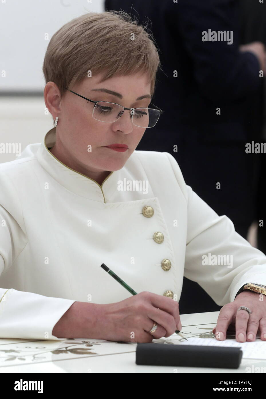 Moscow, Russia. 23rd May, 2019. MOSCOW, RUSSIA - MAY 23, 2019: Former Murmansk Region Governor Marina Kovtun during a meeting of Russia's President Vladimir Putin with former heads of Russian regions, at the Moscow Kremlin. Mikhail Metzel/TASS Credit: ITAR-TASS News Agency/Alamy Live News - Stock Image