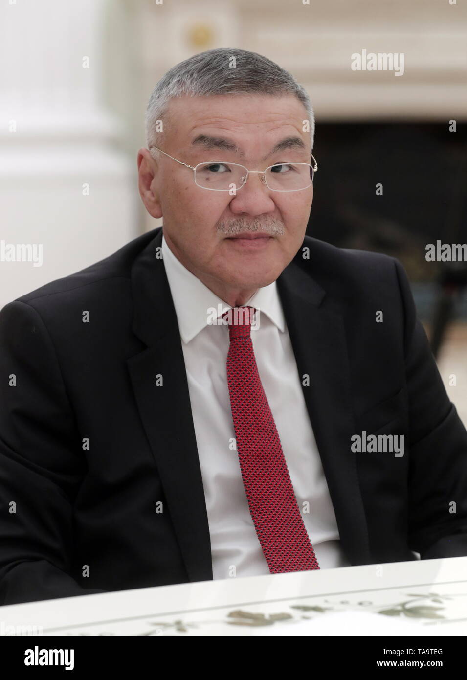Moscow, Russia. 23rd May, 2019. MOSCOW, RUSSIA - MAY 23, 2019: Former Head of Kalmykia Republic Alexei Orlov during a meeting of Russia's President Vladimir Putin with former heads of Russian regions, at the Moscow Kremlin. Mikhail Metzel/TASS Credit: ITAR-TASS News Agency/Alamy Live News - Stock Image