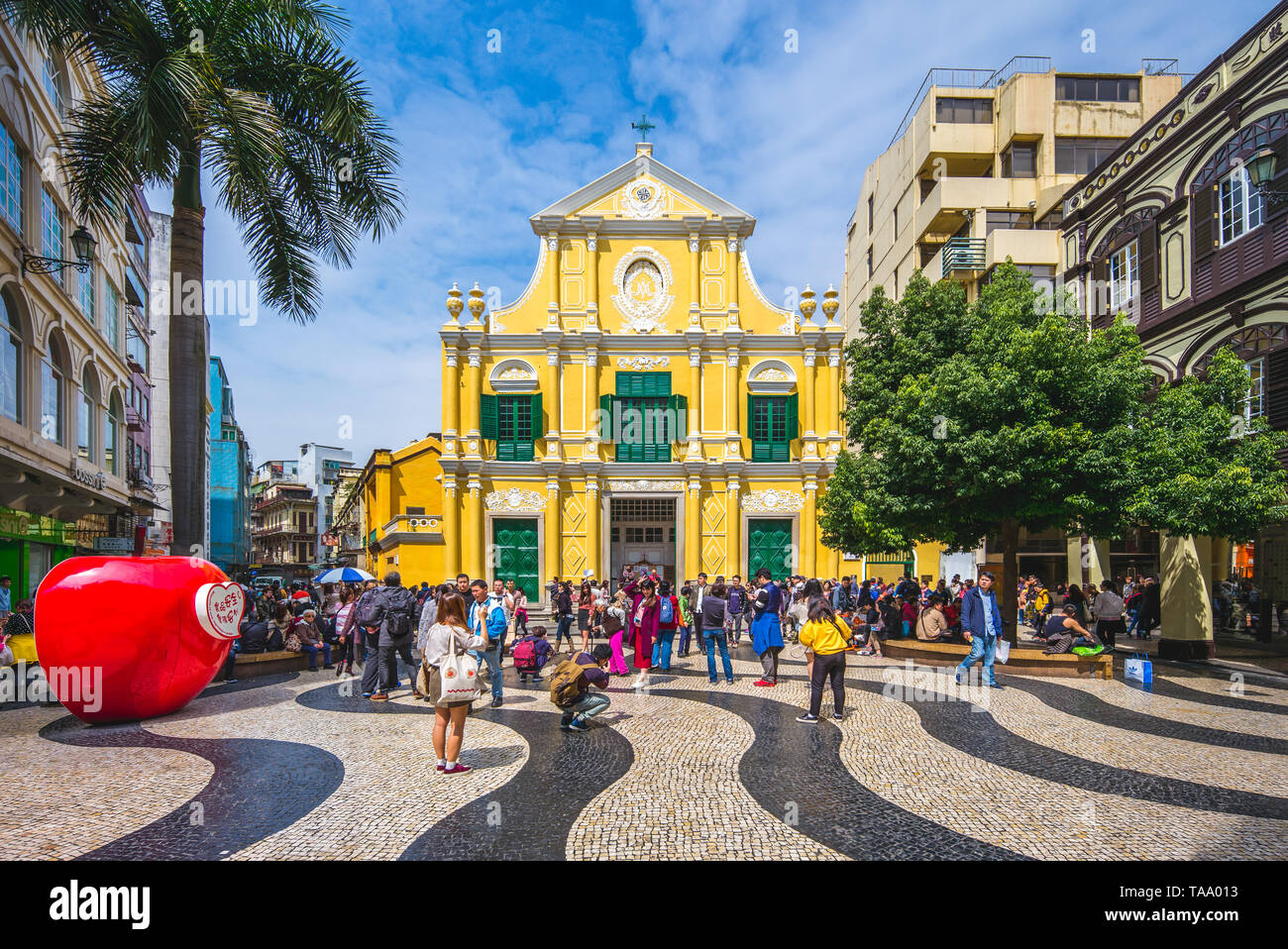 Macau, China - February 27, 2017: St. Dominic's Church,  listed as one of the 29 sites that form the Historic Centre of Macau, a UNESCO World Heritage - Stock Image