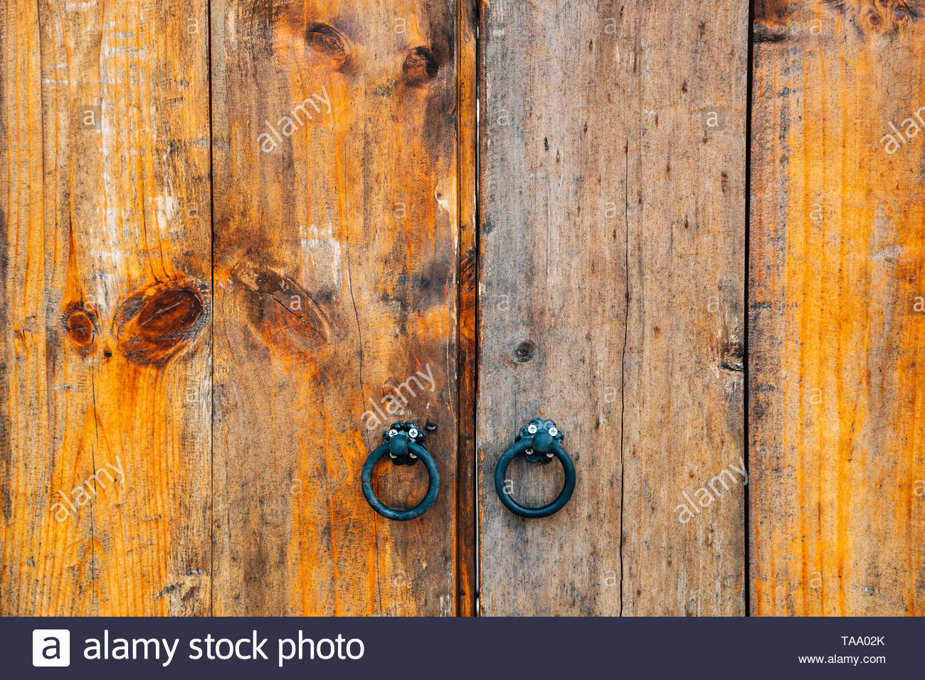 Korean traditional wooden door background - Stock Image