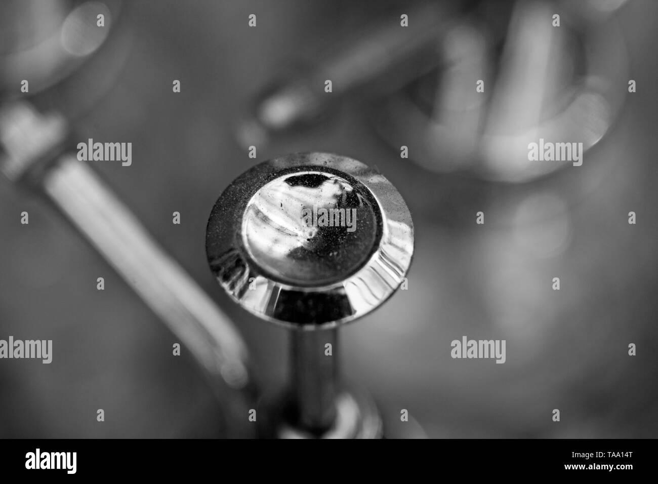 valve in black and white - Stock Image