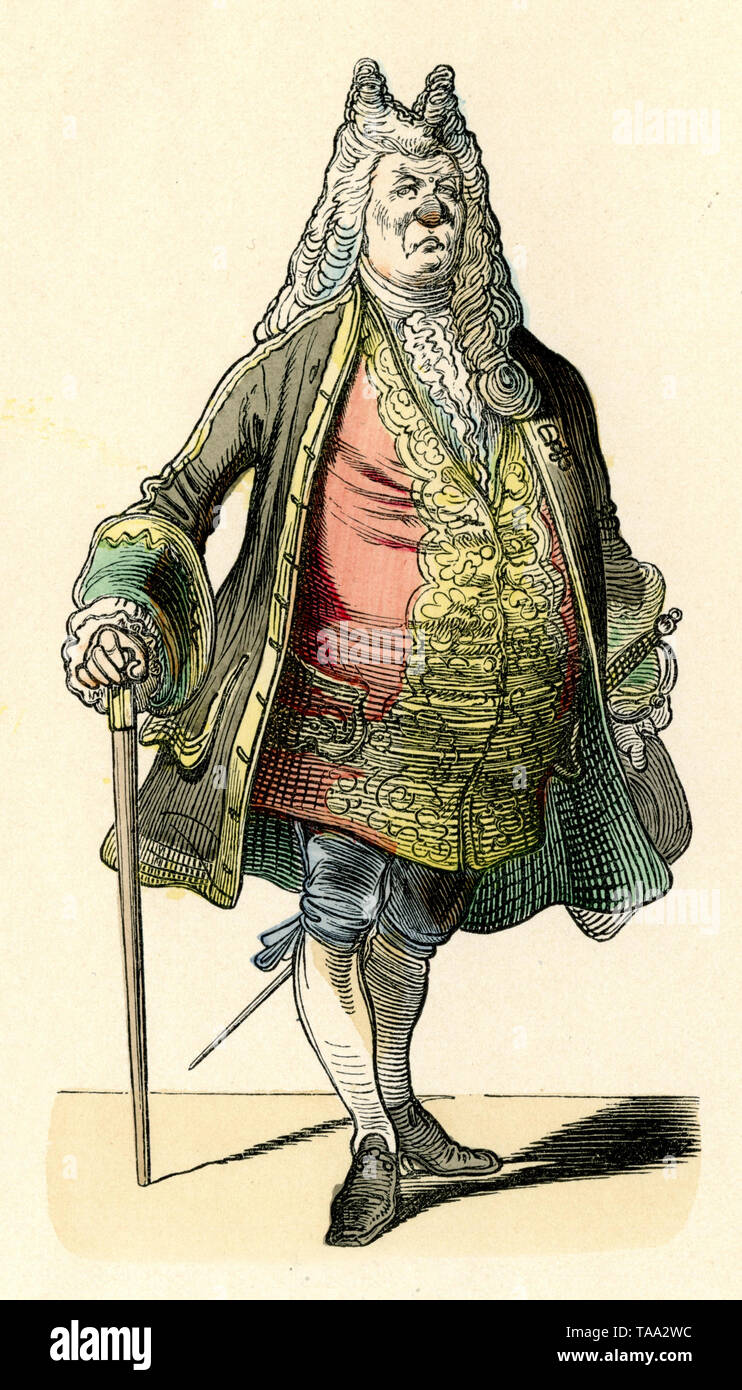 Privy Councillor. Theatrical figure from the puppet theatre ,  (picture book, ca. 1910) - Stock Image