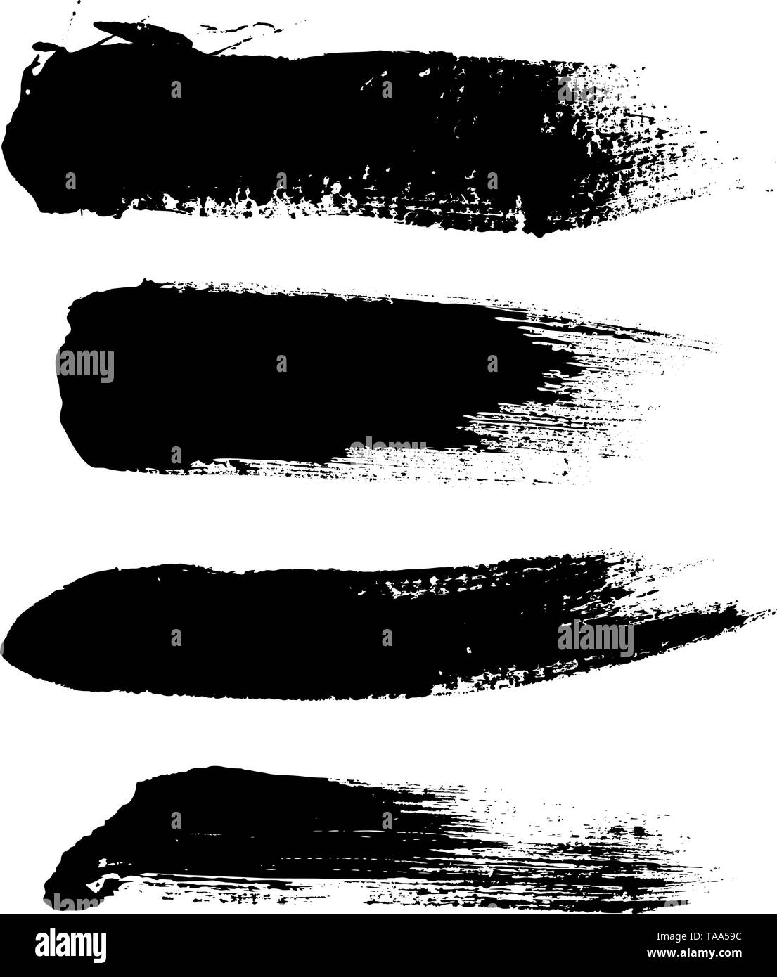 Hight quality vector set of hand drawn brush strokes, stains for backdrops.  - Stock Image