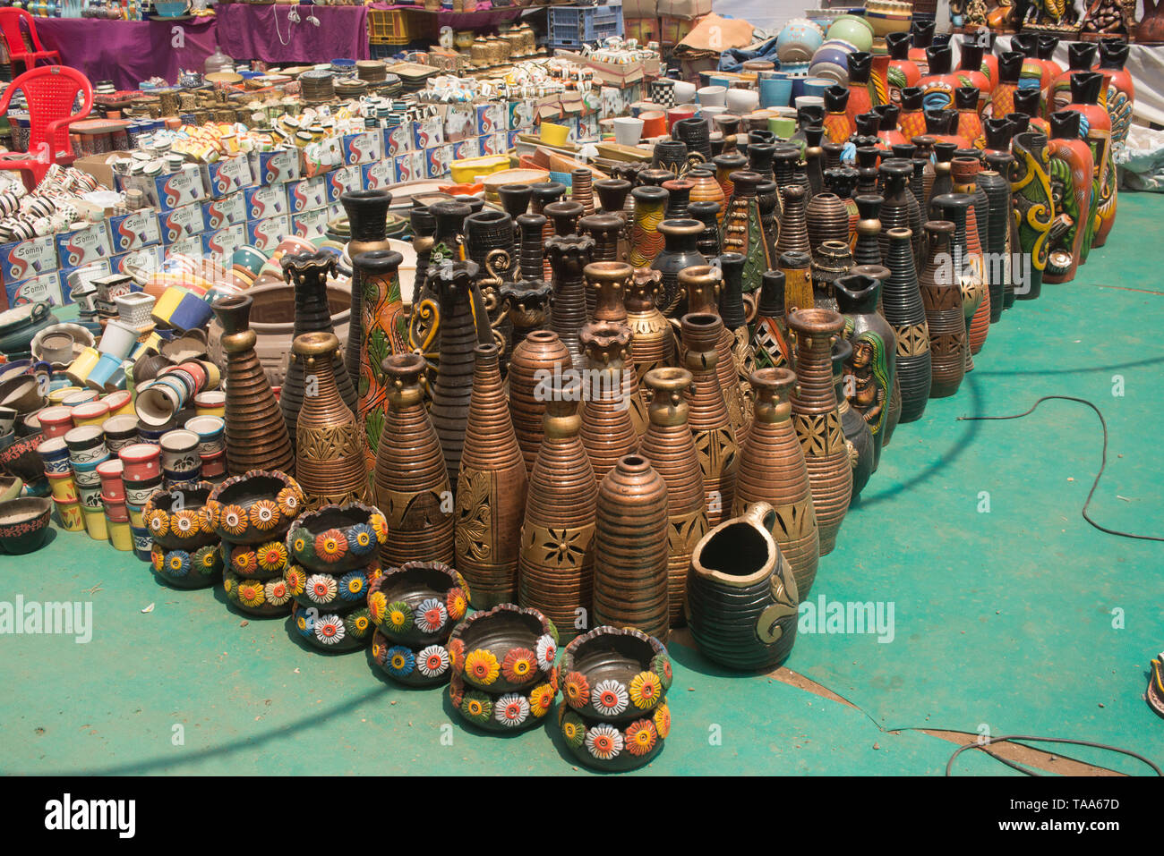 Surai kept for sell, Thane, Maharashtra, India, Asia - Stock Image