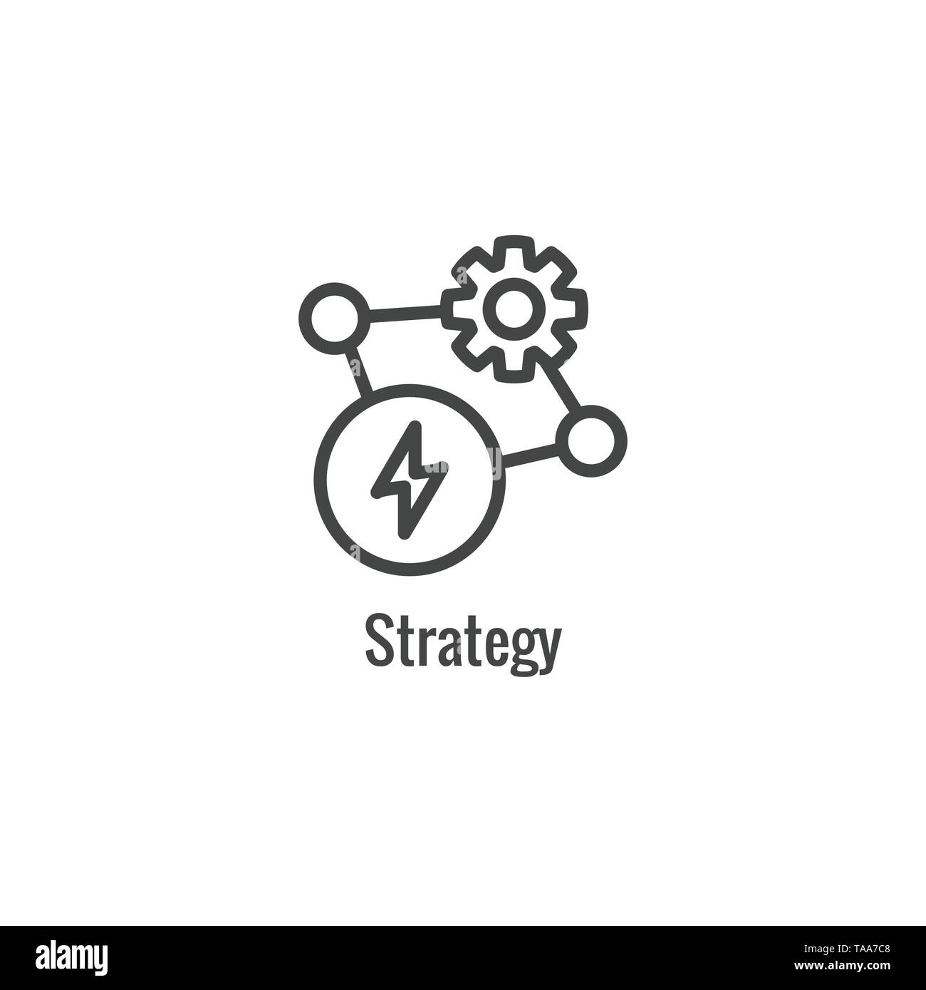 New Business Process Icon -Strategy phase - Stock Image