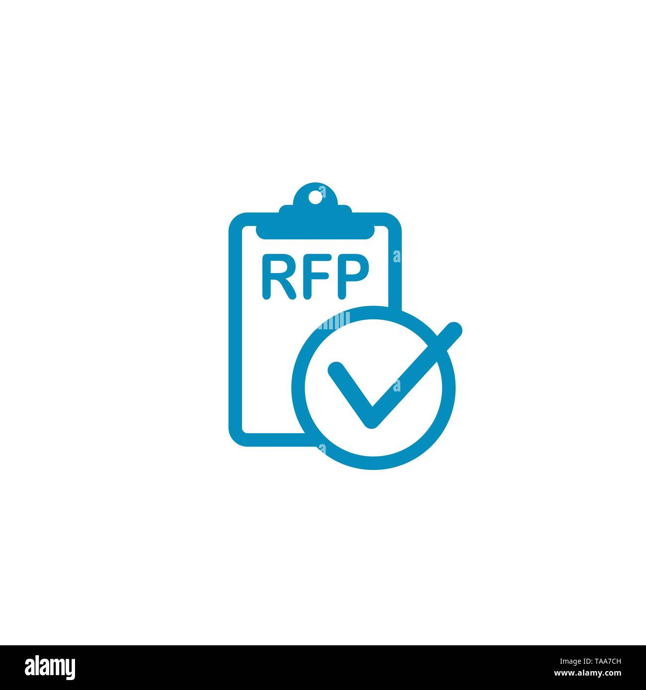 RFP Icon - request for proposal concept - idea - Stock Image