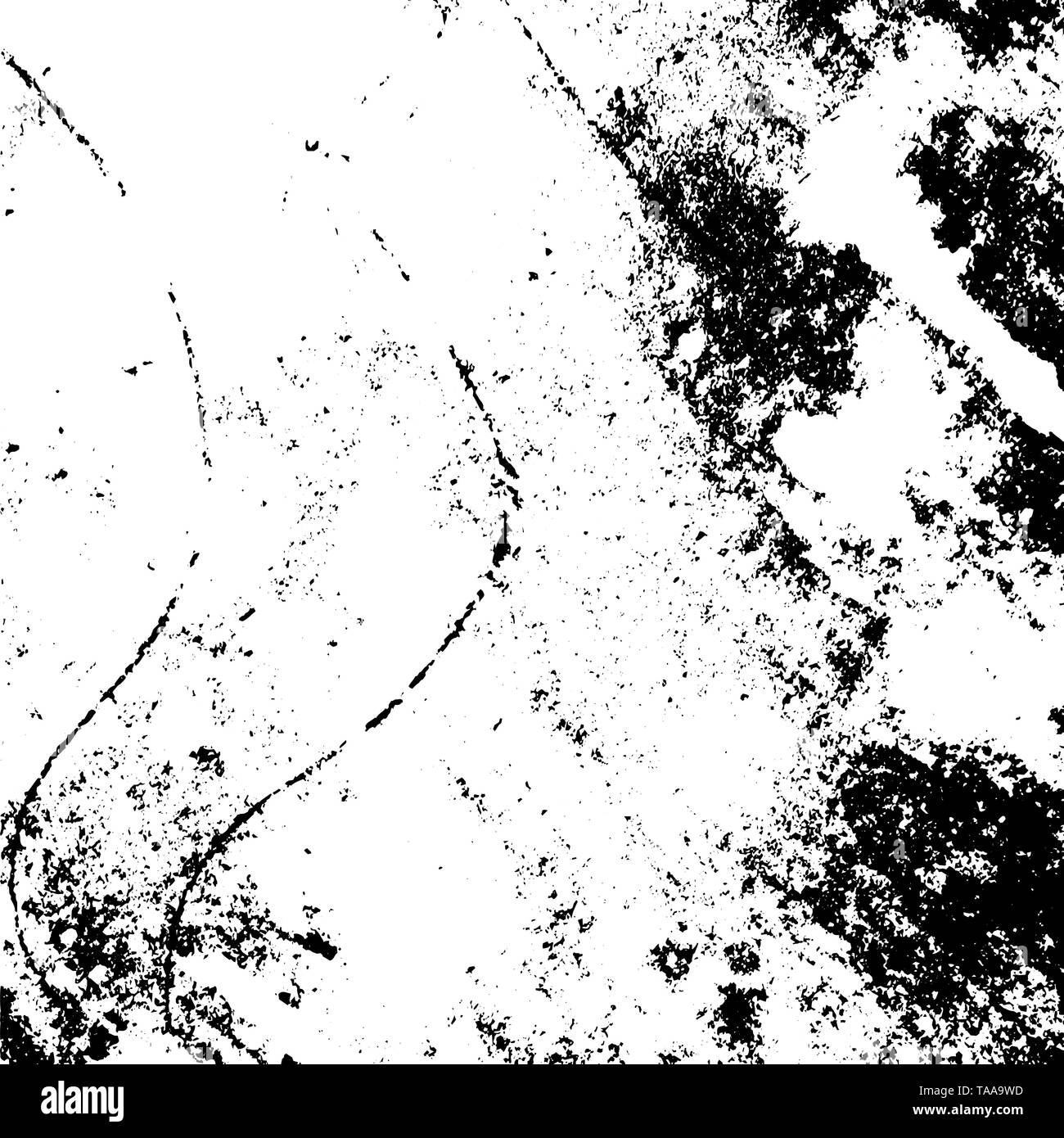 Dirty powder rough empty cover template. Distressed spray grainy overlay texture. Grunge dust messy background. Aged splatter crumb wall backdrop. Wea - Stock Image
