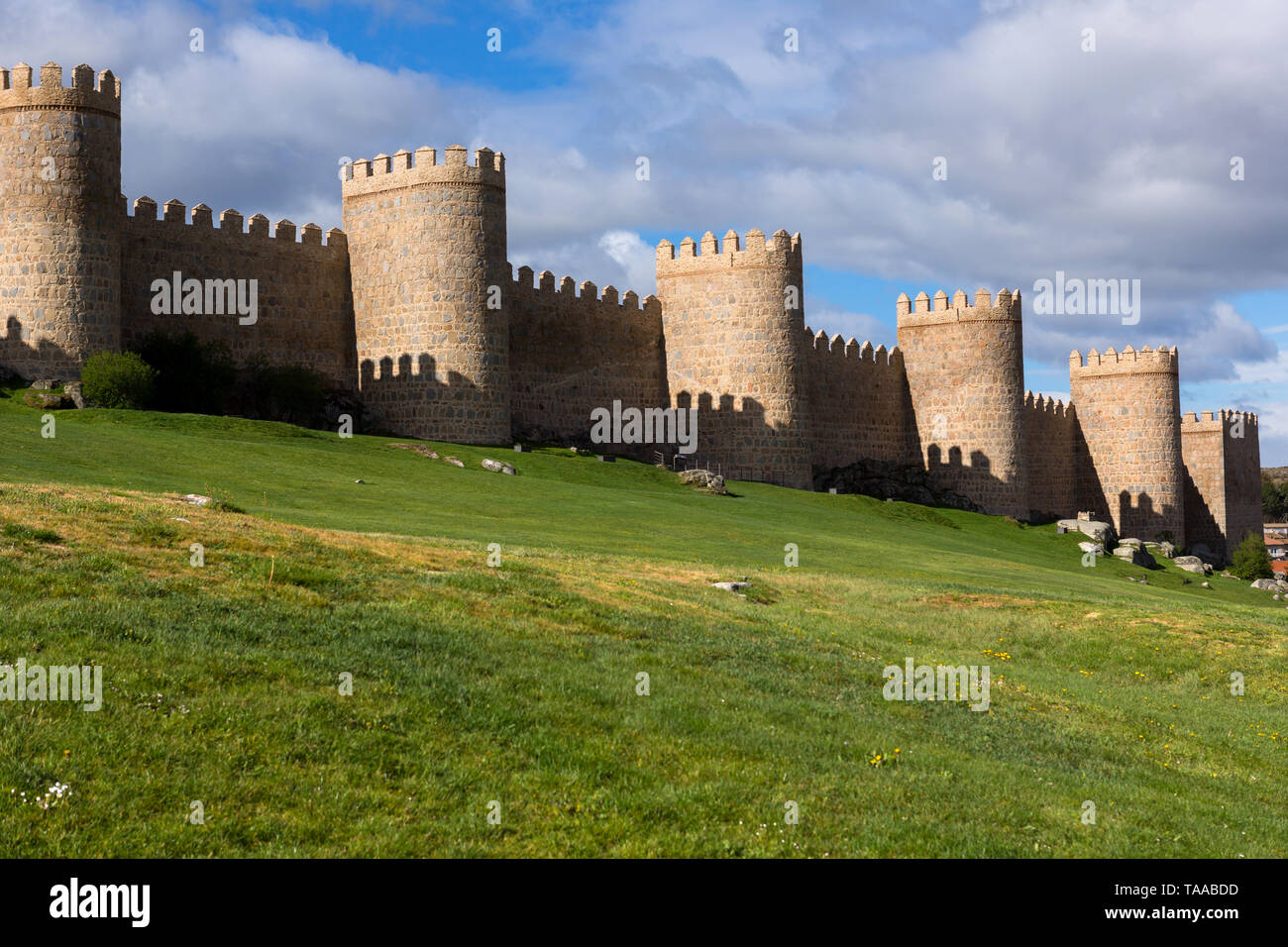 Ancient fortification of Avila, Castile and Leon, Spain - Stock Image