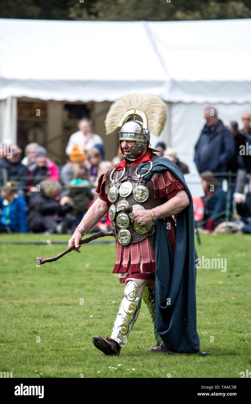 Ermine Street Guard show Imperial Roman Army at Wrest Park, England Stock Photo