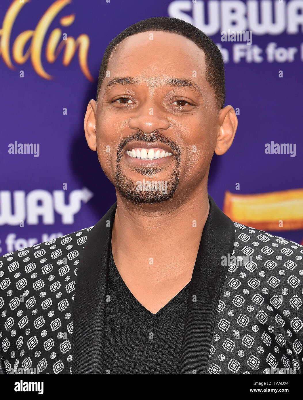 LOS ANGELES, CA - MAY 21: Will Smith attends the premiere of Disney's 'Aladdin' at El Capitan Theatre on May 21, 2019 in Los Angeles, California. - Stock Image