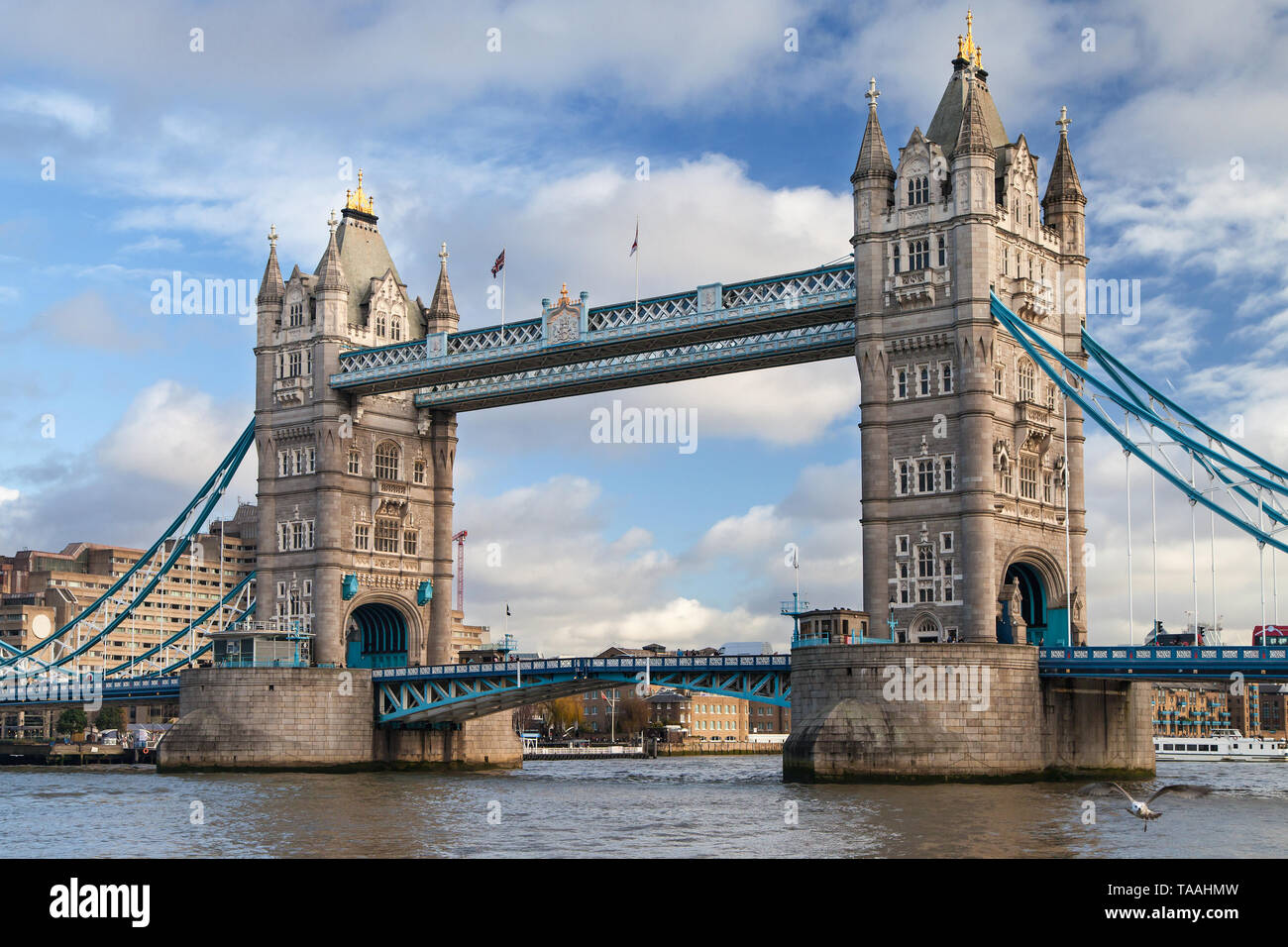 The Tower Bridge in London, United Kingdom. Stock Photo