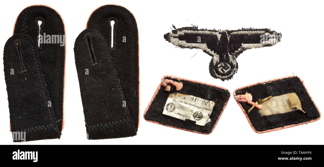 A set of insignia for black special clothing issue of Waffen