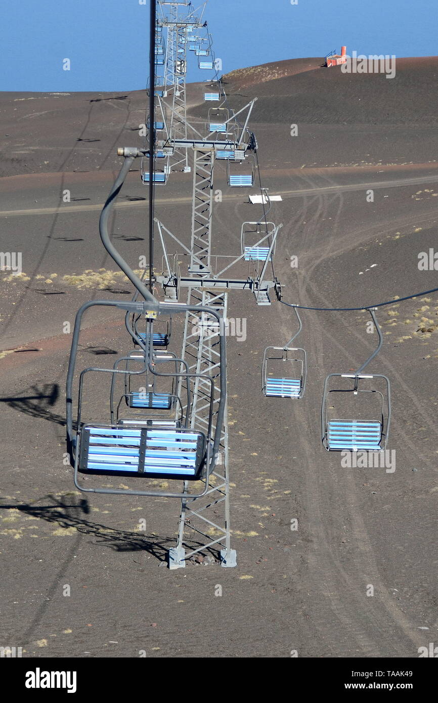 CHAIRLIFT TO OSORNO VOLCANO, LOS LAGOS REGION, CHILE. - Stock Image