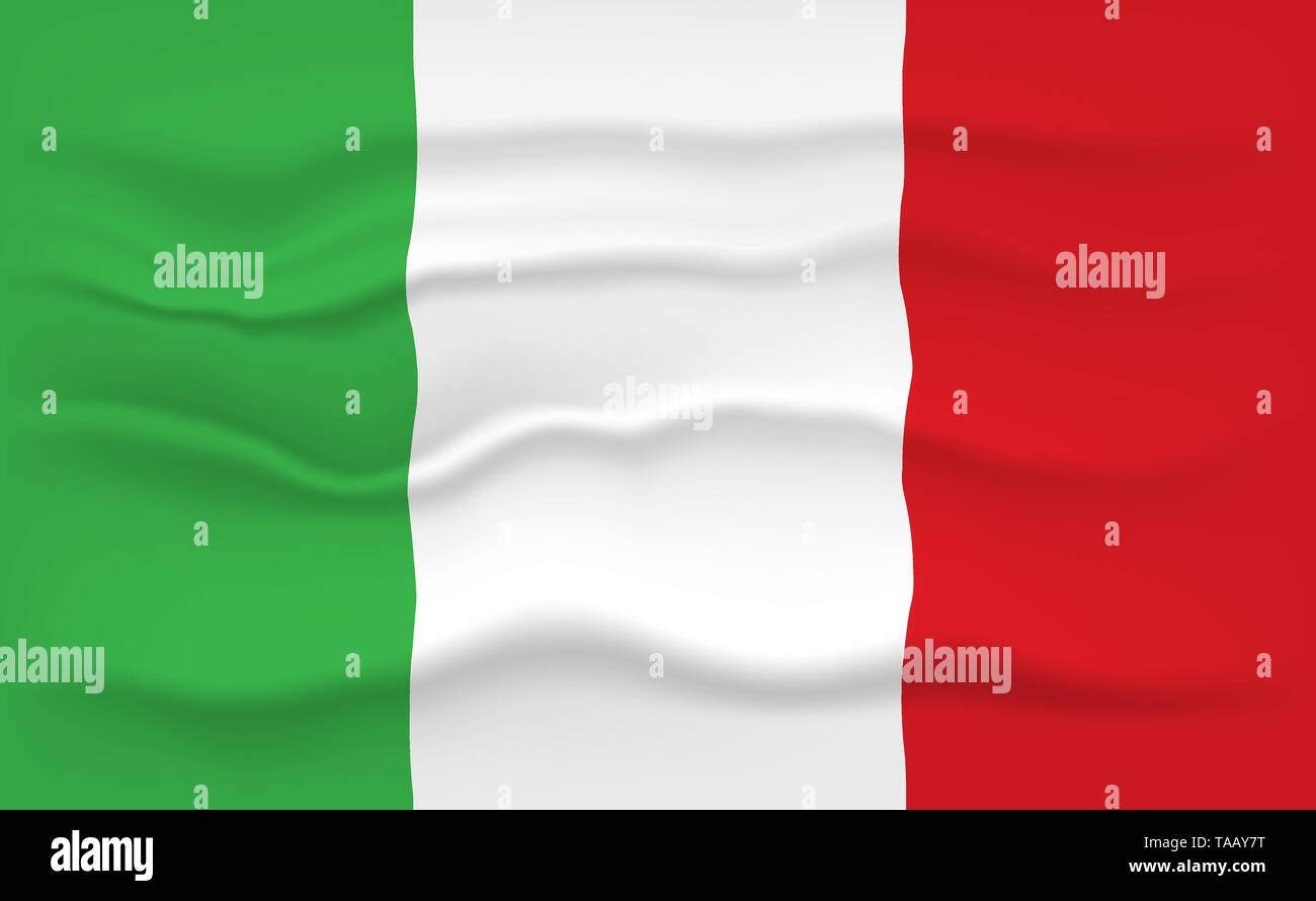 Flag of Italy - Stock Vector