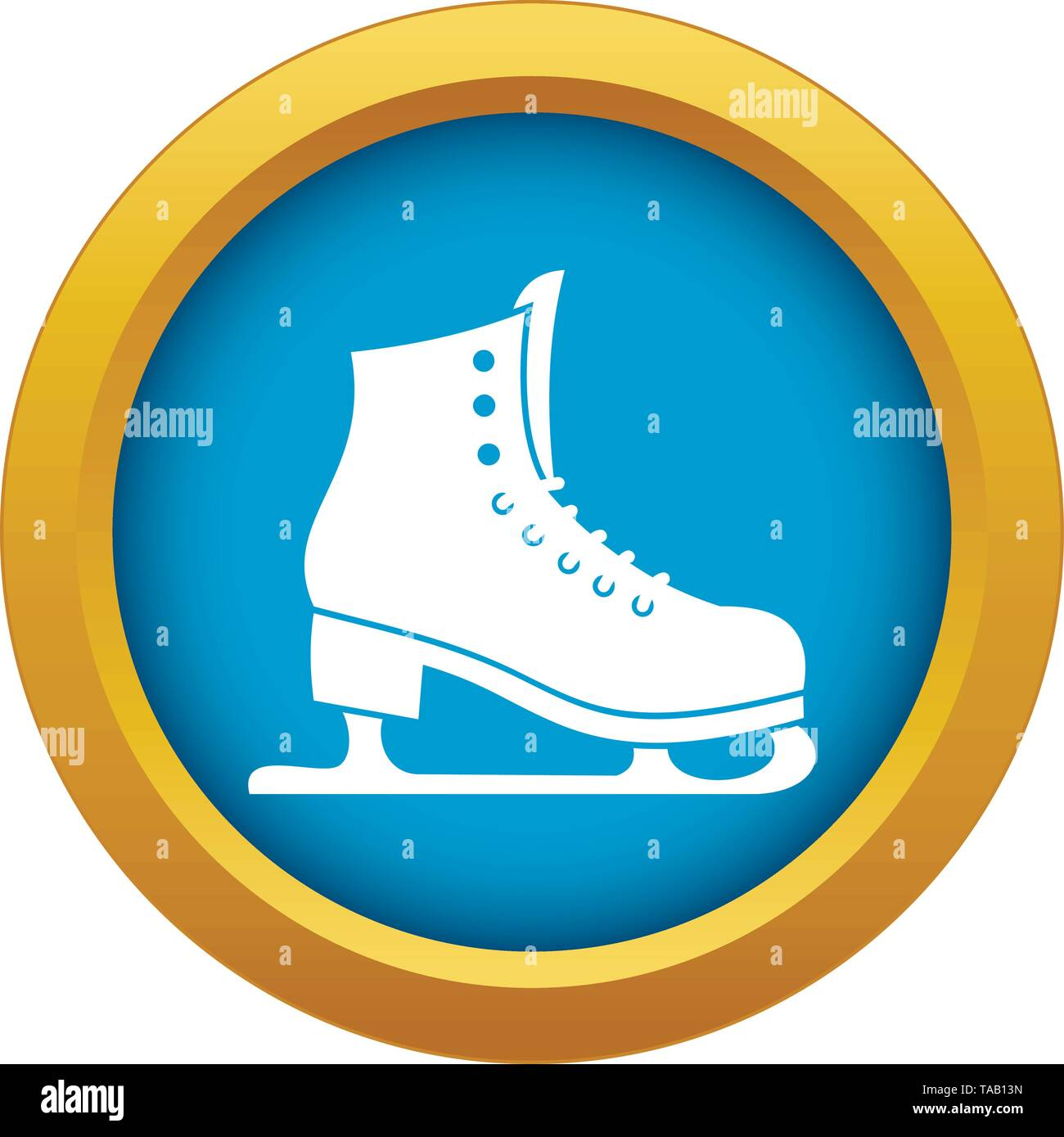 Skates icon blue vector isolated - Stock Image