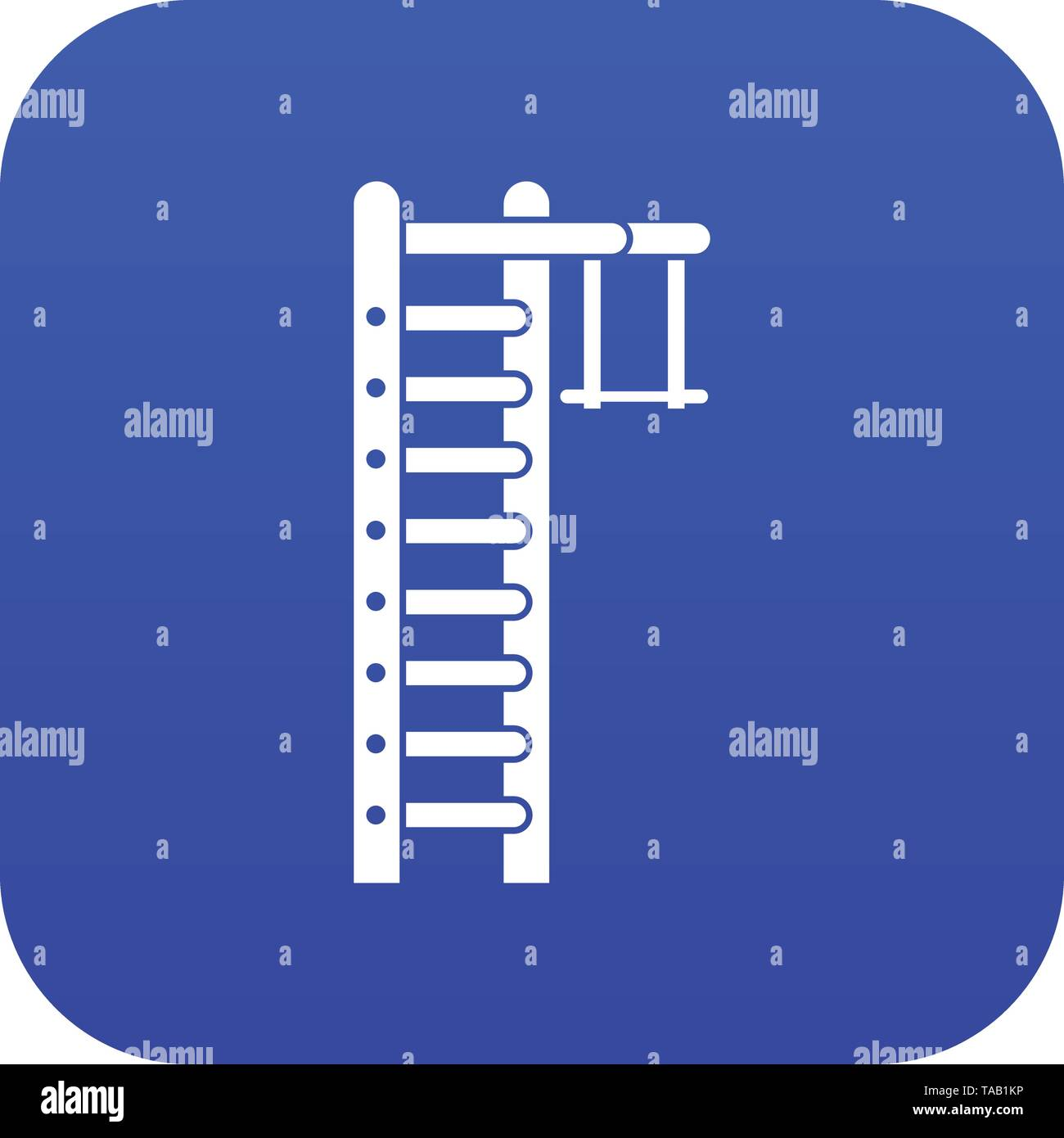 Swedish ladder icon digital blue - Stock Image