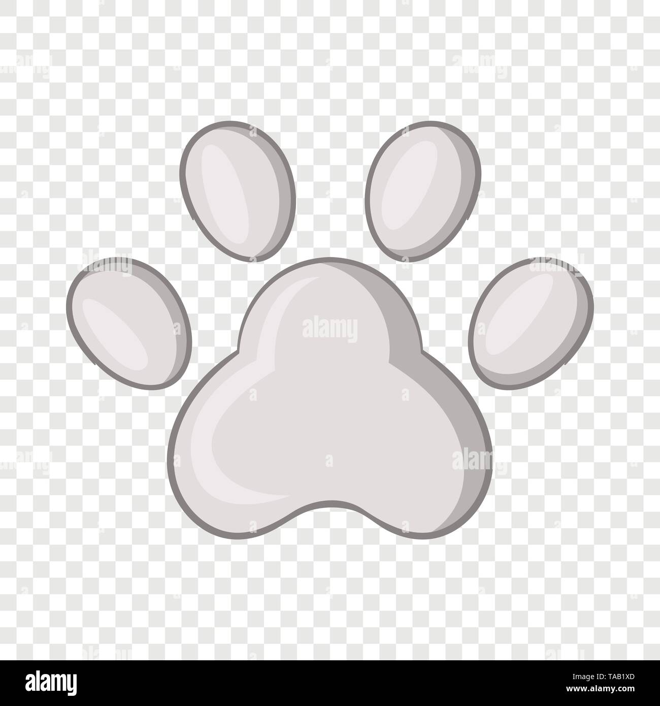 Footprint of cats foot icon, cartoon style - Stock Image