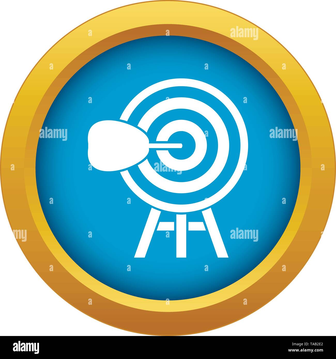 Target icon blue vector isolated - Stock Image