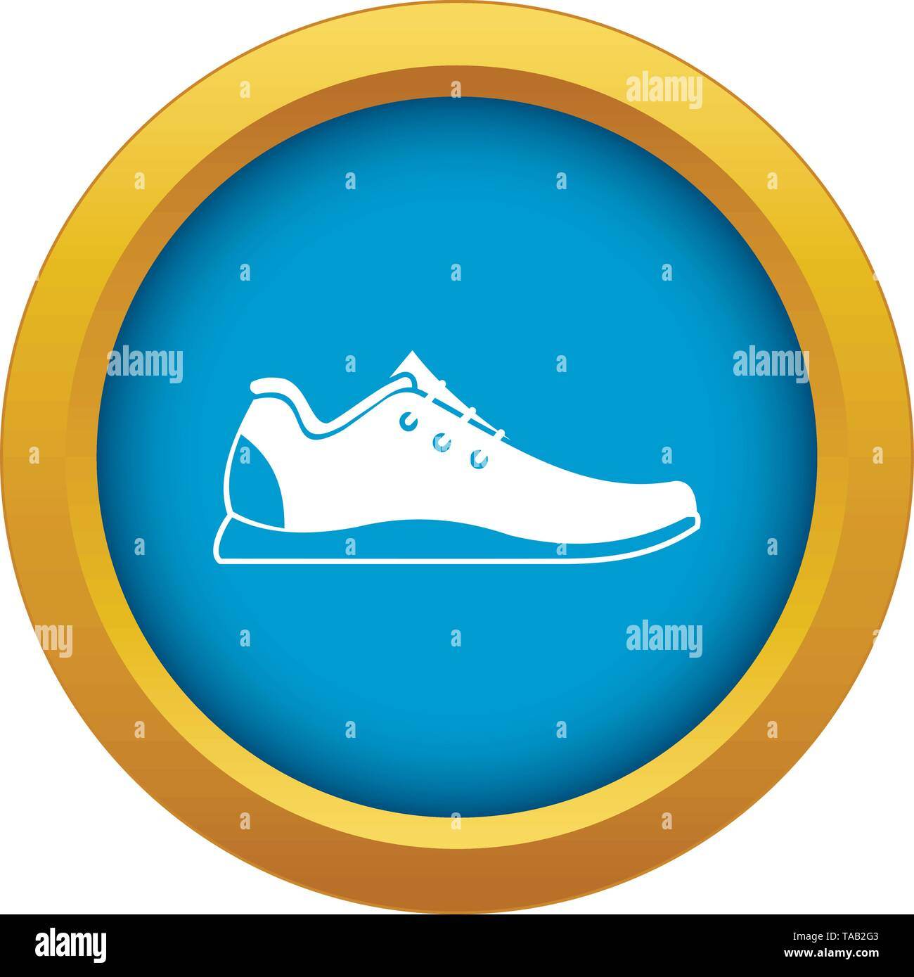 Athletic shoe icon blue vector isolated - Stock Image