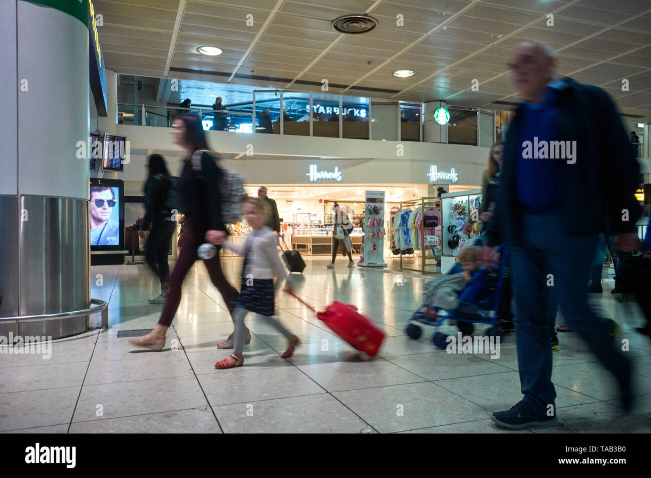 Harrods shop in the north terminal of Gatwick airport - Stock Image