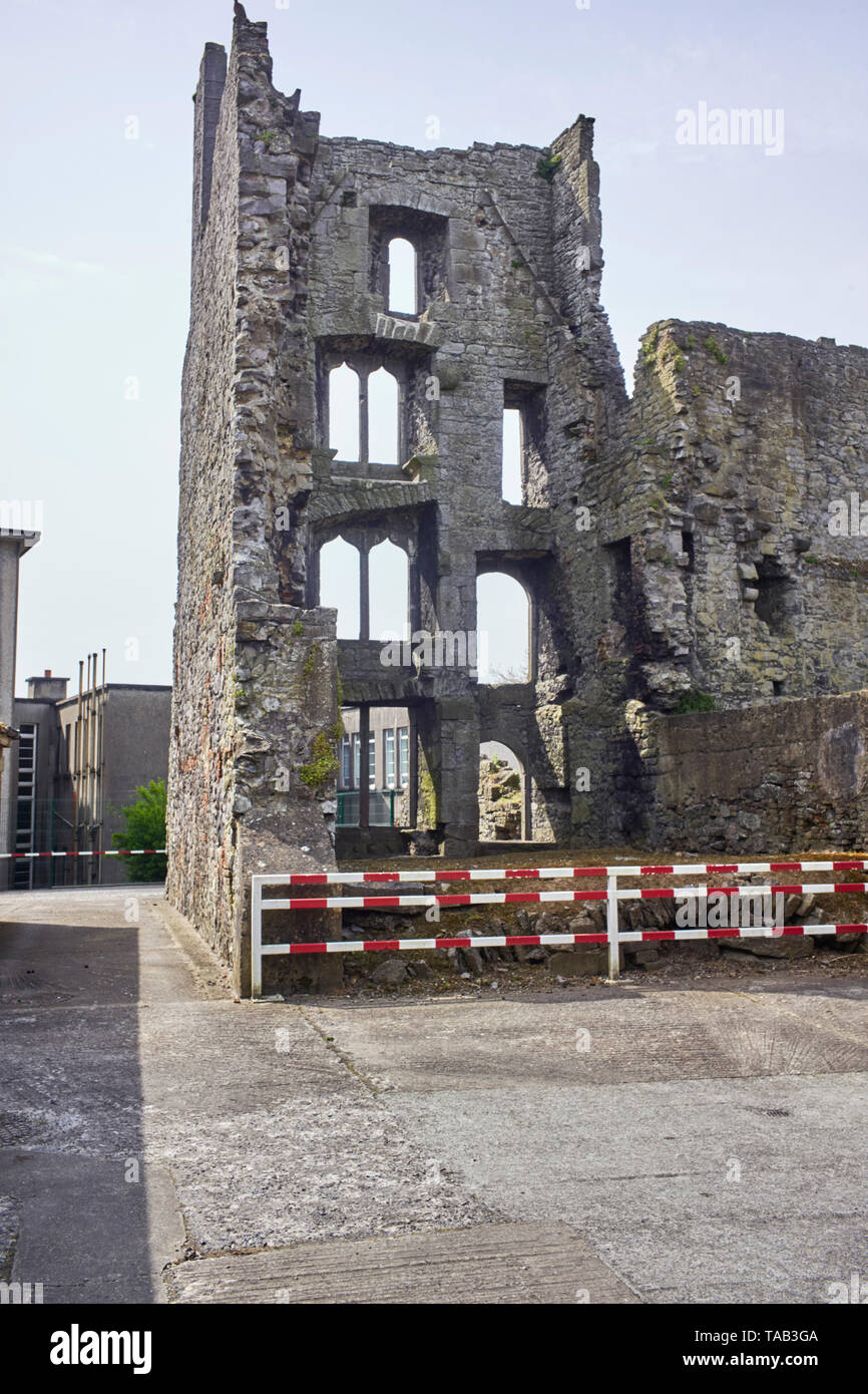 Fannings Castle, a fortified tower house, is named after Dominic Fanning a merchant and mayor of Limerick who lived here and was executed by the Cromw - Stock Image