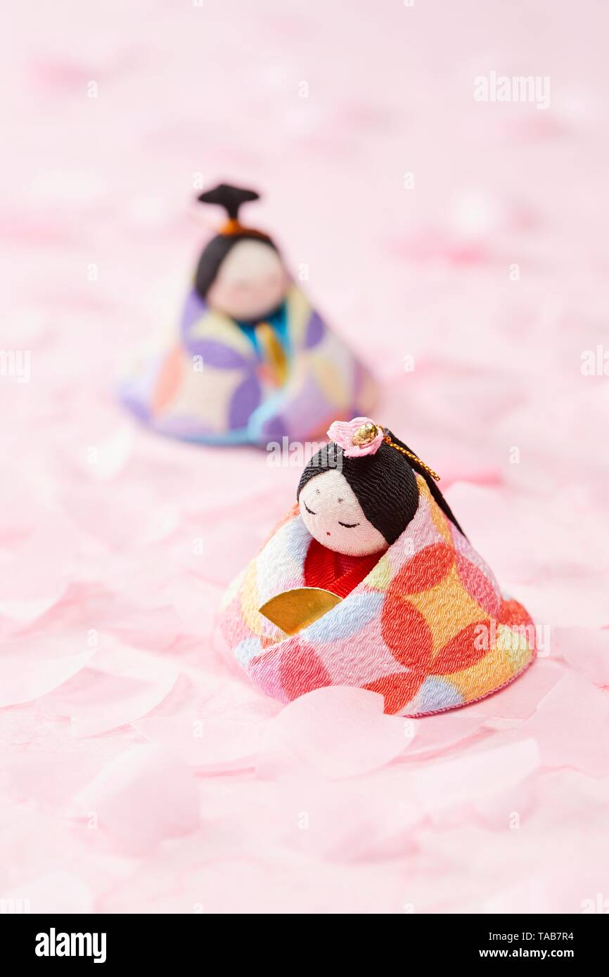 Japanese Hina dolls - Stock Image