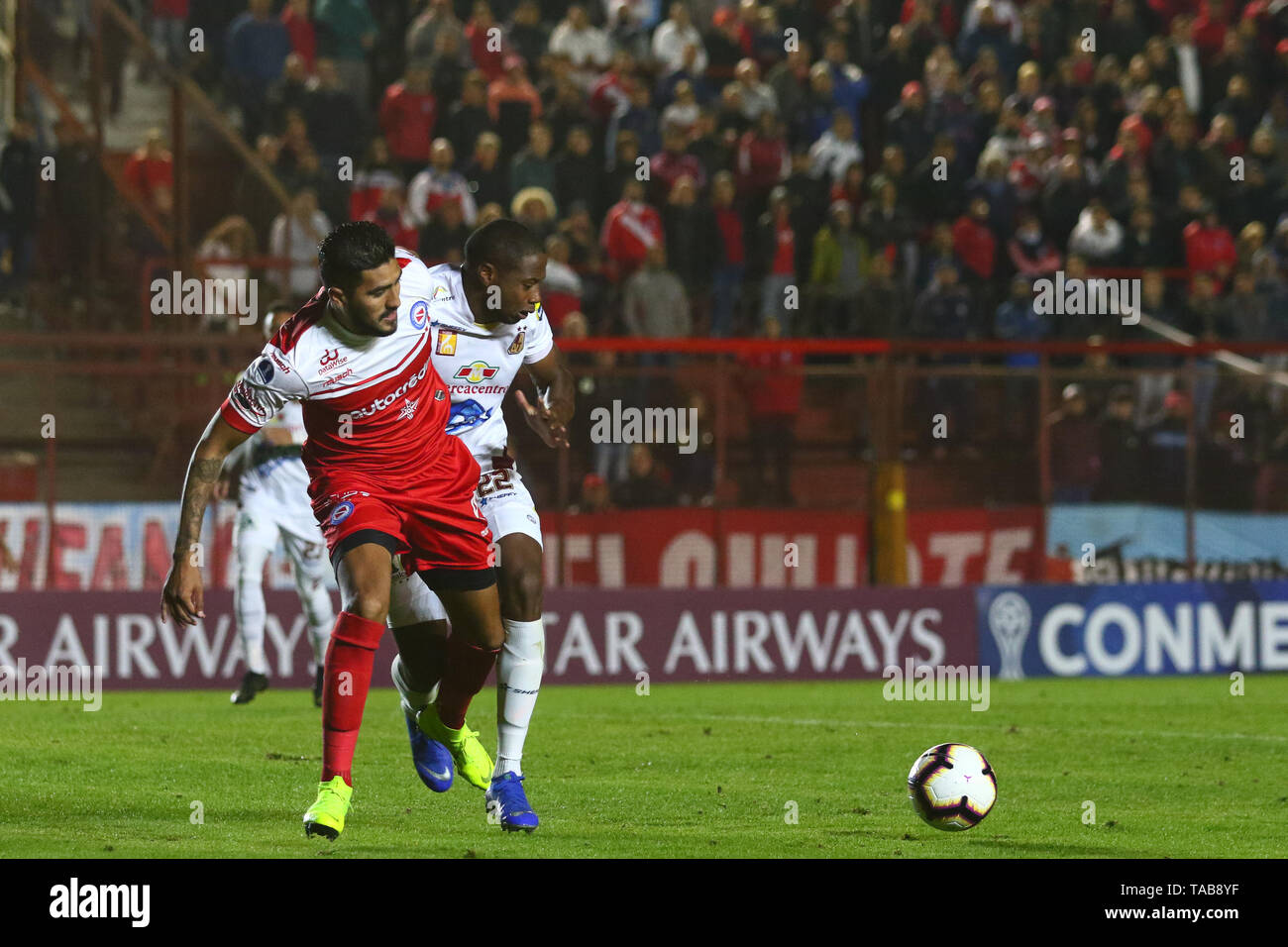 BUENOS AIRES, 23.05.2019: Jonathan Galvan during the match between Argentinos Juniors and Deportes Tolima for the 2nd round of Conmebol Sudamericana C - Stock Image