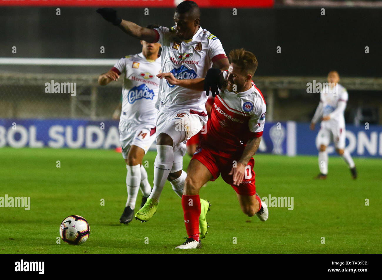 BUENOS AIRES, 23.05.2019: Alexis Mac Allister during the match between Argentinos Juniors and Deportes Tolima for the 2nd round of Conmebol Sudamerica Stock Photo