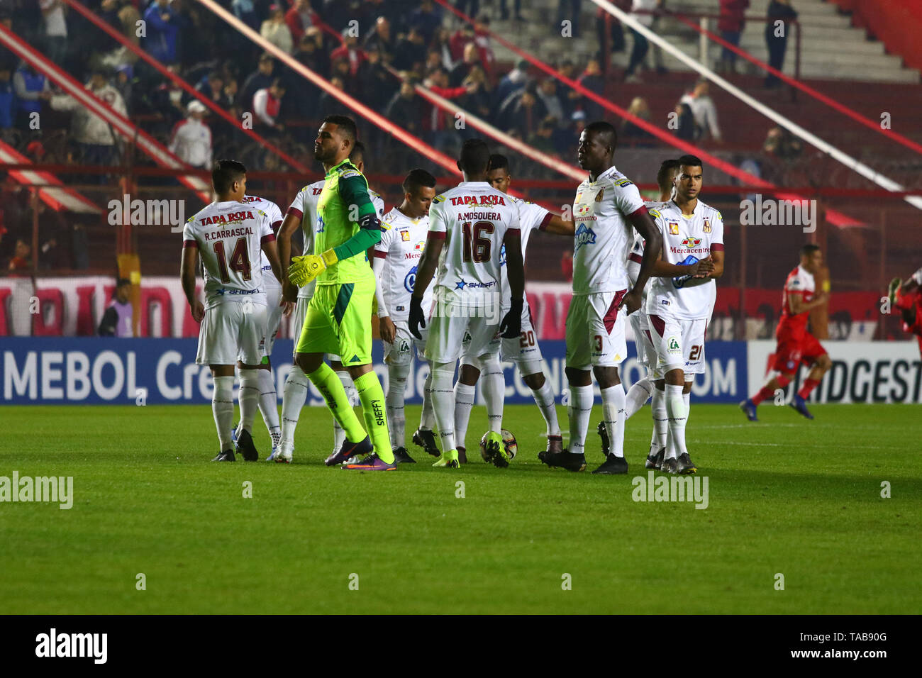 BUENOS AIRES, 23.05.2019: Team of Tolima during the match between Argentinos Juniors and Deportes Tolima for the 2nd round of Conmebol Sudamericana Cu - Stock Image