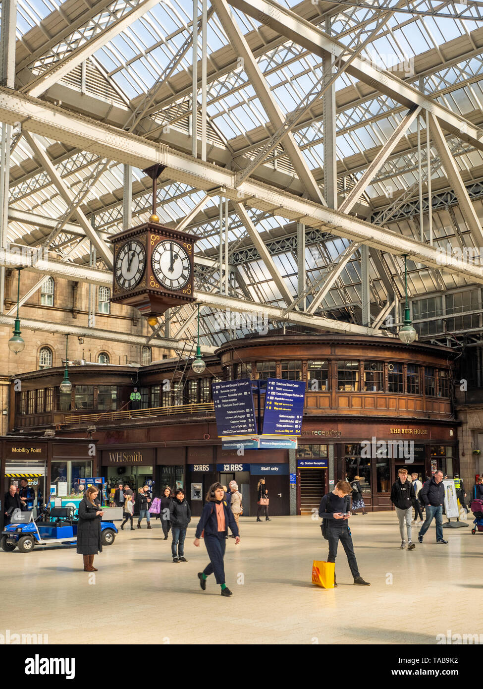 Glasgow Central Station, Scotland, United Kingdom - Stock Image