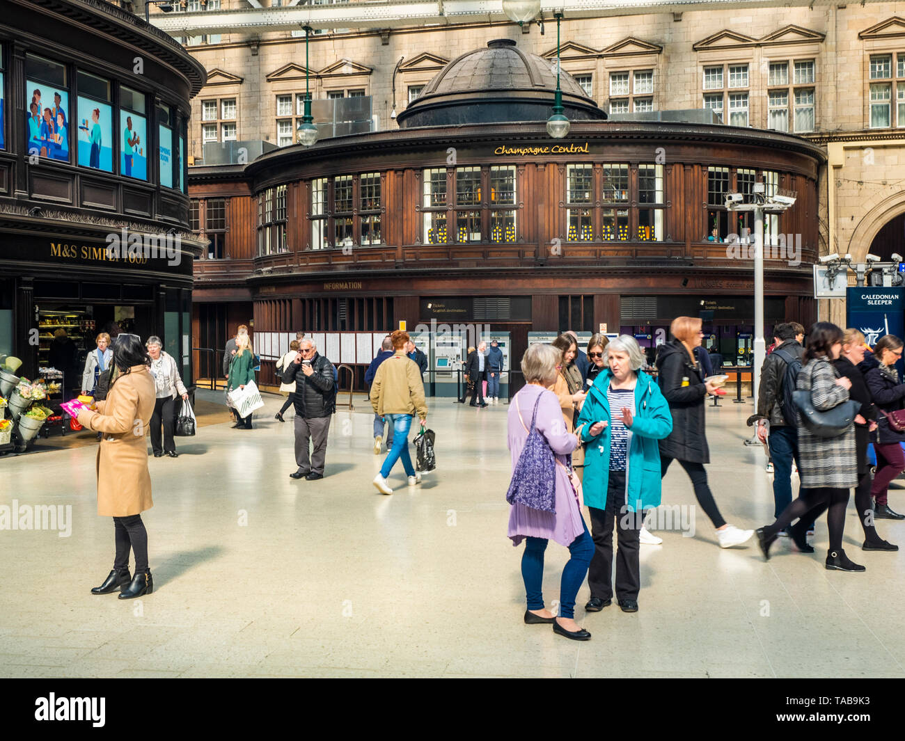 The Grand Central Hotel, Glasgow Central Station, Scotland, United Kingdom - Stock Image