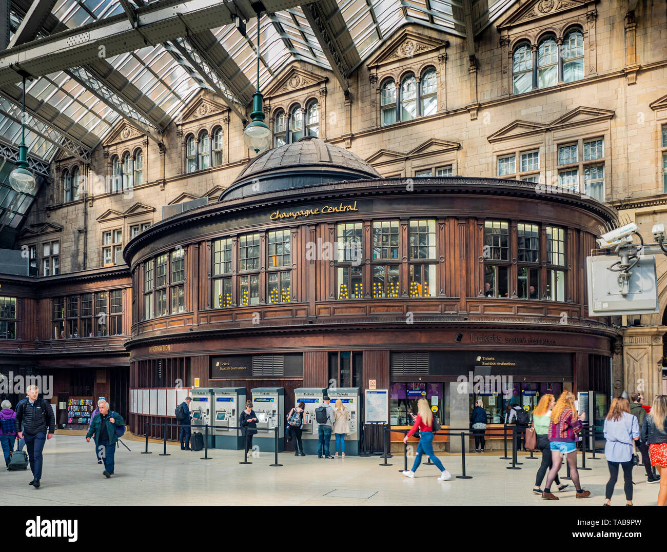 The Grand Central Hotel Glasgow Central Station, Scotland, United Kingdom - Stock Image